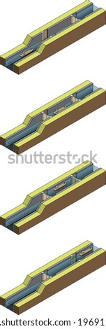 How canal locks work when moving a ship upstream.