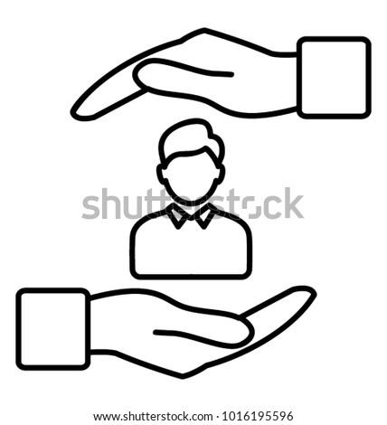 HR strategy. Line icon hr planning