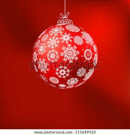 ?hristmas background with red ball. And also includes EPS 8 vector