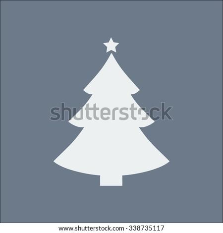 Ð¡hristmas tree flat icon