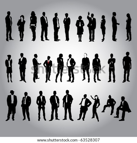 30 human silhouettes