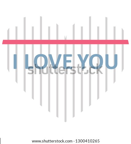I adore you Isolated Vector Icon that can be easily modified or edit
