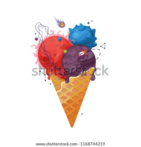 ice cream and space