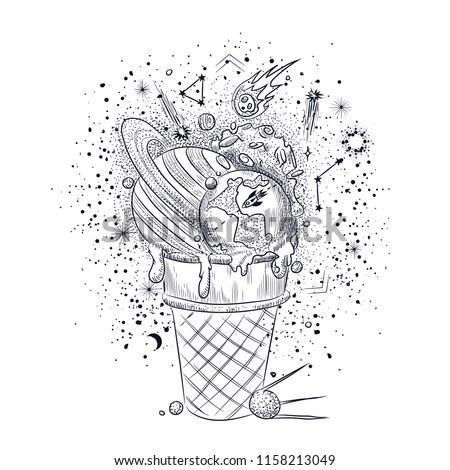 ice cream engraving