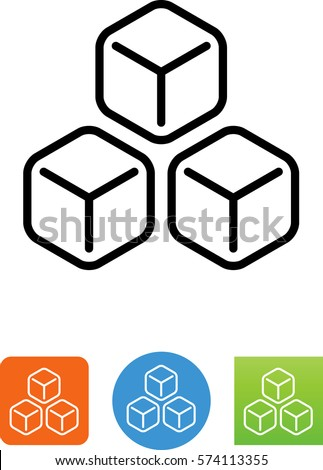 3 ice cubes icon