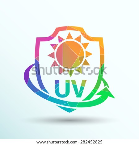 icon  label or sticker anti uv