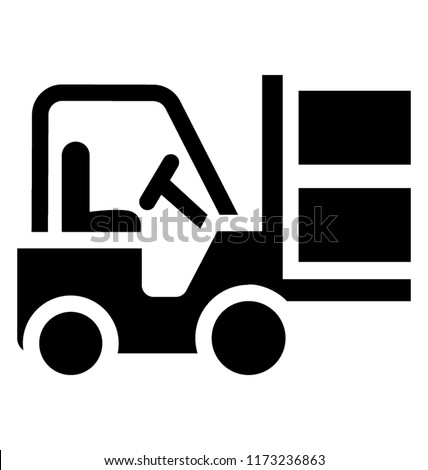 Icon of a car use for lifting forklift