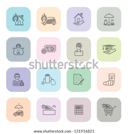 icon series in light colors