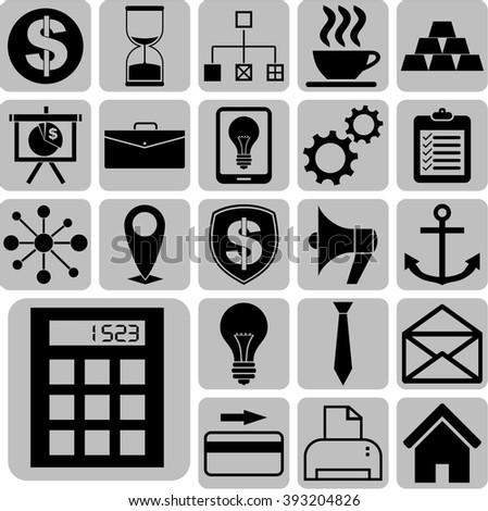 22 icon set. business Icons. Minimal Modern.