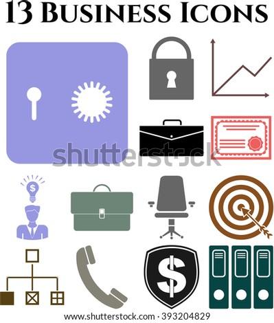 13 icon set. business Icons. Minimal Modern.
