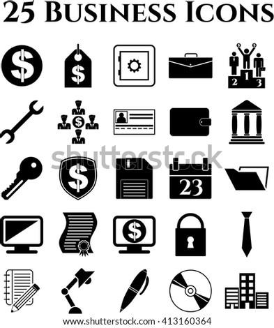 25 icon set. business Icons. Minimal Modern.