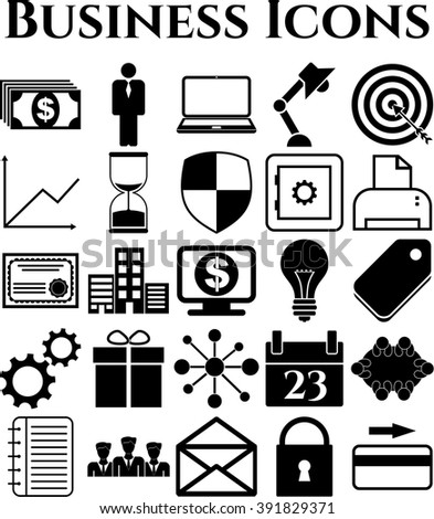 25 icon set. business Icons. Quality Icons.