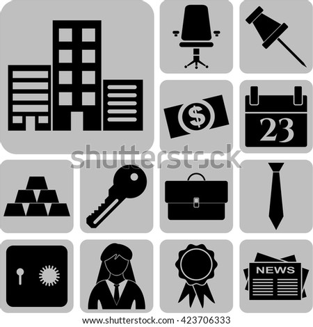 13 icon set. business Icons. Quality Icons.