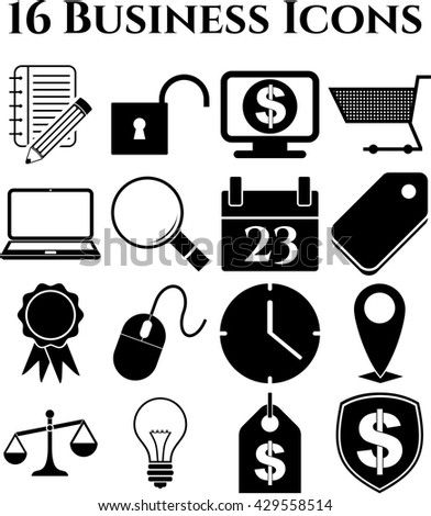 16 icon set. business Icons. Quality Icons.