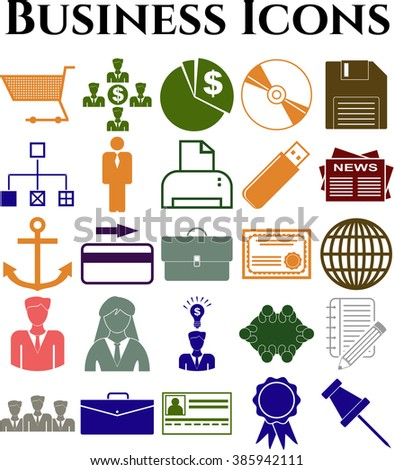 25 icon set. business Icons. Set of web Icons.