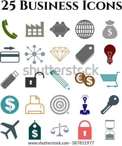 25 icon set. business Icons. Set of web Icons.