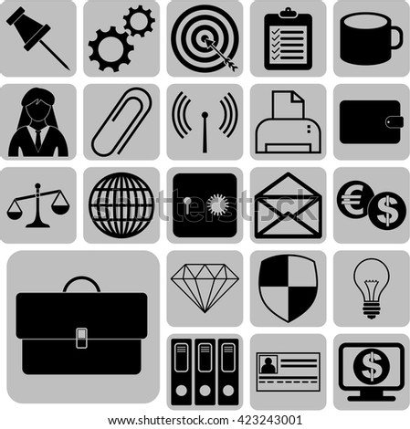 22 icon set. business Icons. Set of web Icons.