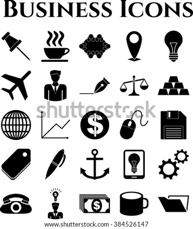 25 icon set. business Icons. Universal and Standard Icons.