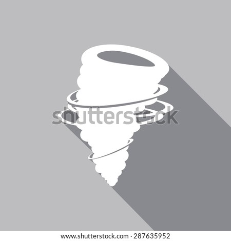 icon tornado with a long shadow