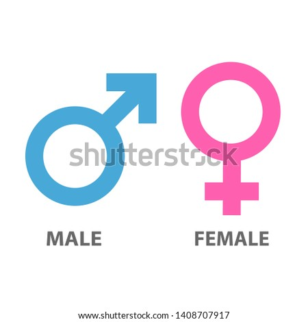 Icons and symbols for Male and female  #1408707917