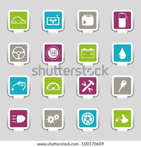16 icons car