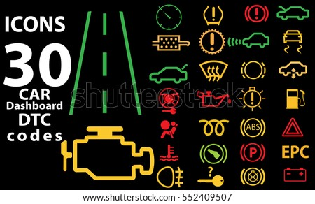 30 icons car vector