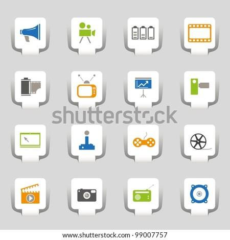 16 icons media