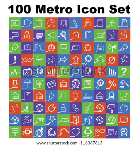 100 icons  metro style icon set