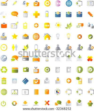 100 Icons set for web