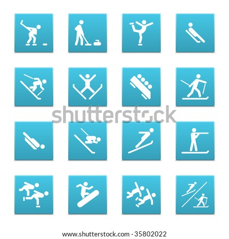 16 icons with all the sports that has been announced as part of the 2010 Winter Olympics in Vancouver. Three sets with summer sports are also available in my portfolio.
