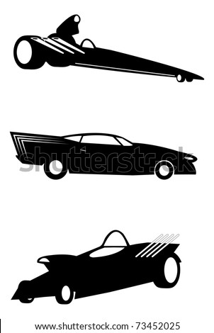 Jarretts Fantasy Auto Racing on Illustrated Fantasy Hot Rod Auto Silhouettes Stock Vector 73452025
