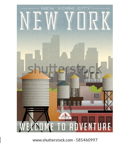 illustrated travel poster or
