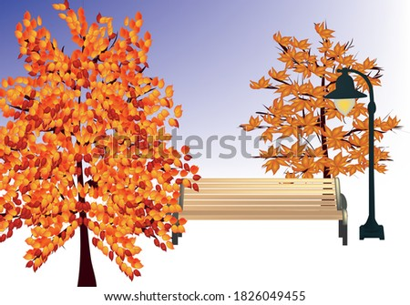 illustration of autumn trees