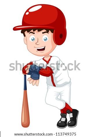 illustration of boy baseball player