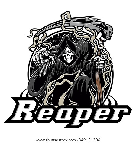 illustration of grim reaper on