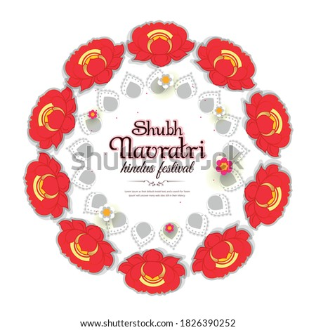 Illustration of Shubh Navratri and vector background of Happy Navratri special Stock photo ©