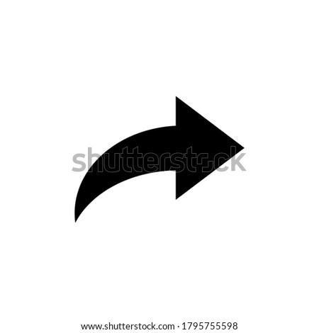 illustration vector graphic of black arrow Stock photo ©