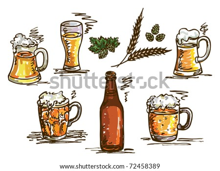illustration with beer