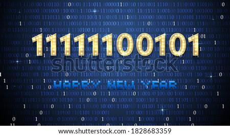 2021 in binary code happy new