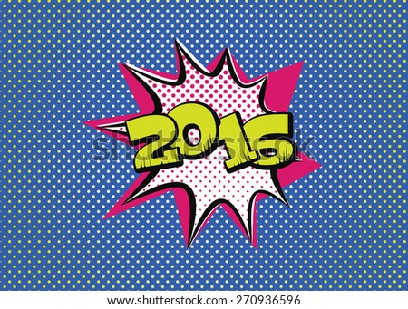 2016 in pop art style for the