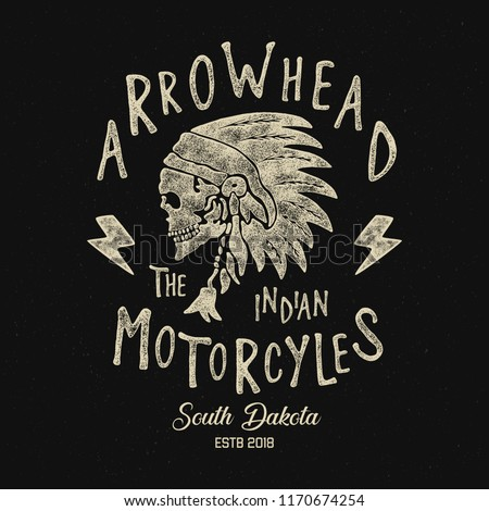 Indian Motorcycle typography. T shirt graphic for print and other user. Vector illustration