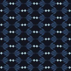 Indigo blue flower stripe damask seamless pattern. Sketchy winter floral vector background. Modern dark navy wallpaper graphic design. Hand drawn all over print. Masculine bloom line decor textile