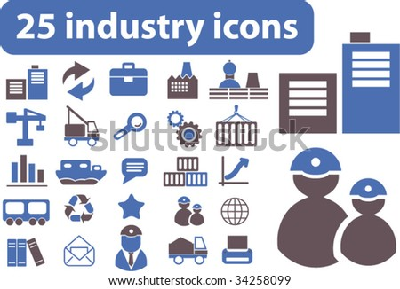 25 industry icons. vector