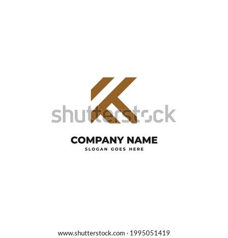 initial or alphabet k for logo design inspiration-2 Stok fotoğraf ©