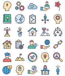 Innovation and Creativity Isolated Vector Icons Set every icon can be easily modify or edited