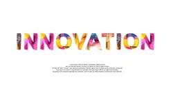 Innovation word creative design Concept . Modern Vector Illustration concept of word Innovation