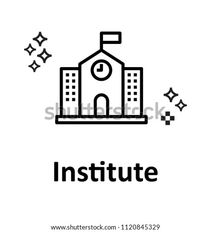 institute building Vector Icon