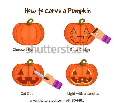Trick or Treat Halloween Pumpkin Vector Art