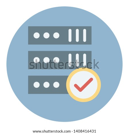 Internet connection, internet server Vector Icon
