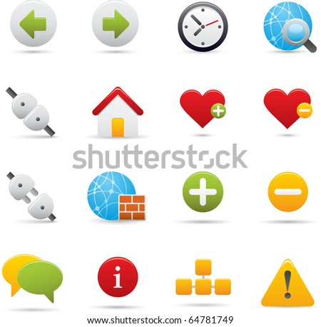 05 Internet Icons Professional vector set for your website, application, or presentation. The graphics can easily be edited color individually and be scaled to any size